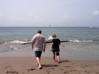 Todd and I in Barceloneta, Puerto Rico