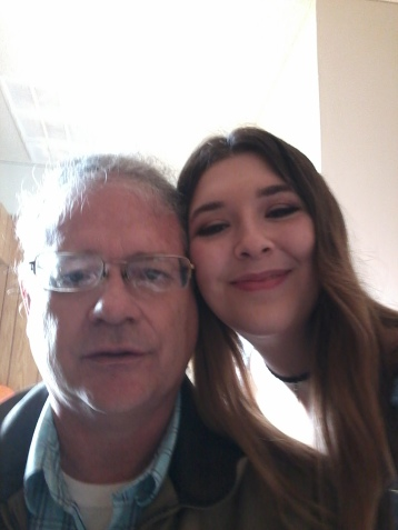 daughter and dad gofying off