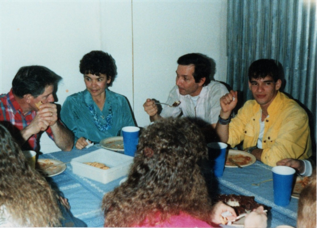 Missionary family dinner with the Michigan work & Witness team February 1991