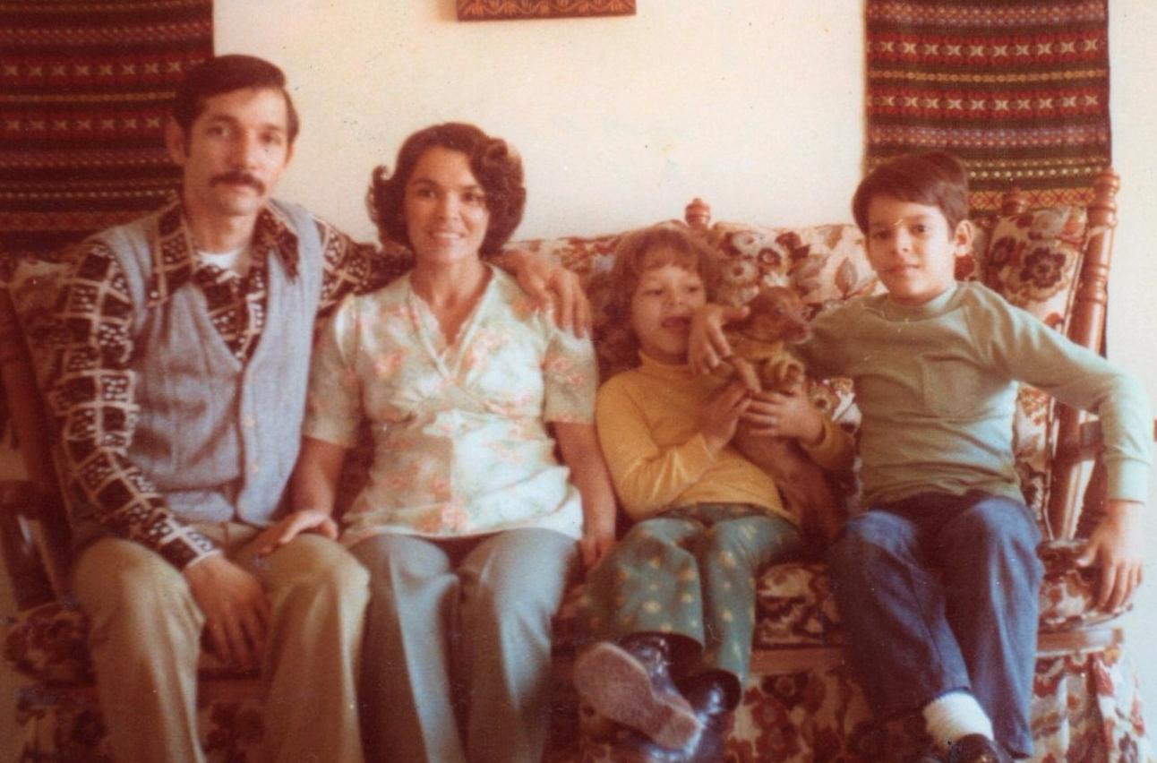 recien llegamos a San Antonio 1977