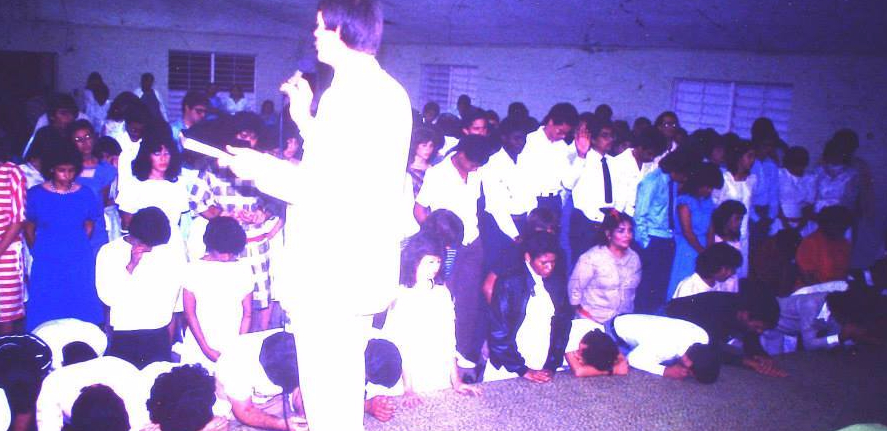 Campamento de JNI Toro Negro en el altar